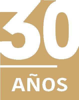 Logo Semagro 30 años en dorado