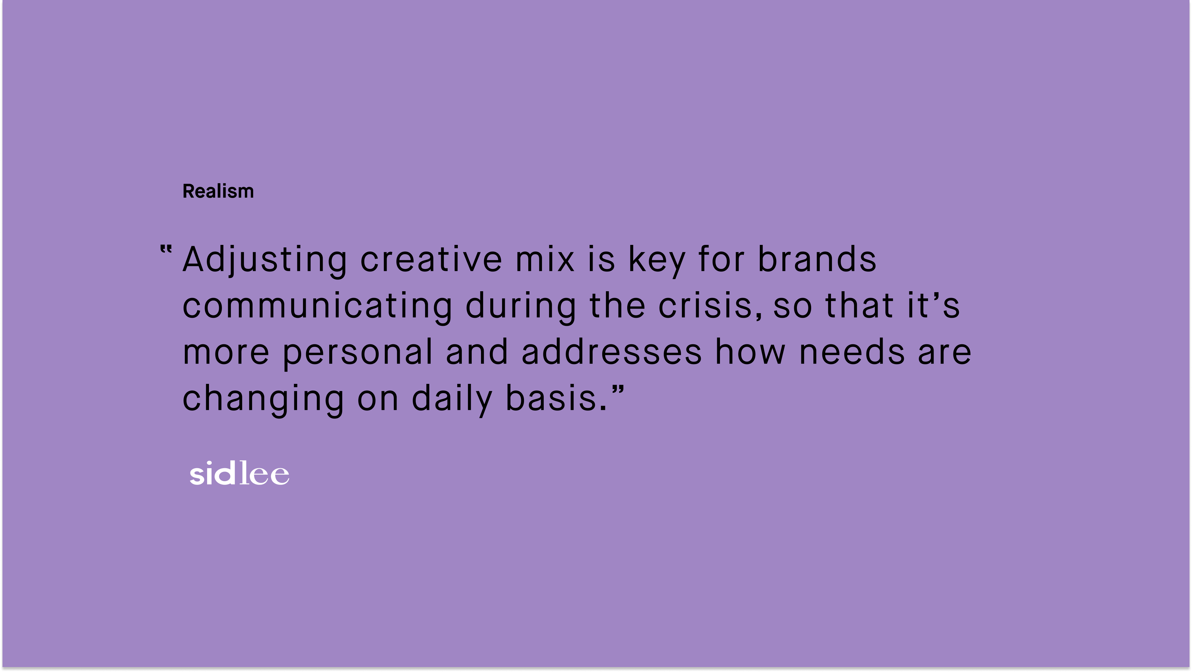 #paid_Sidlee_Adjusting creative mix is key for brands communicating during the crisis