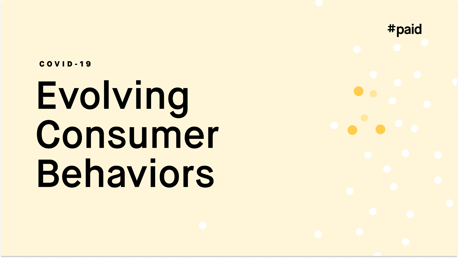 #paid_COVID-10 & Evolving Consumer Trends cover page