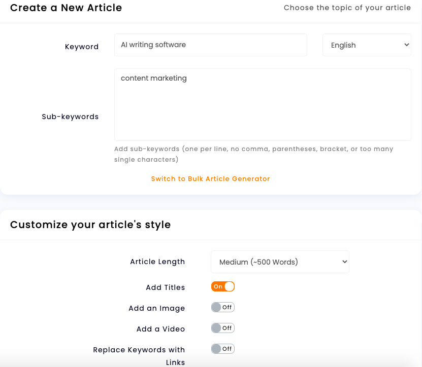 article forge ui
