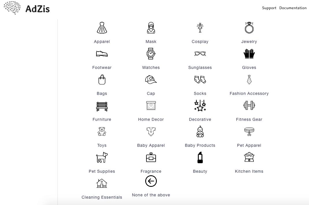 AdZis product category