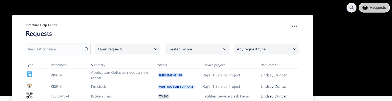 Jira Service Management Customer Request