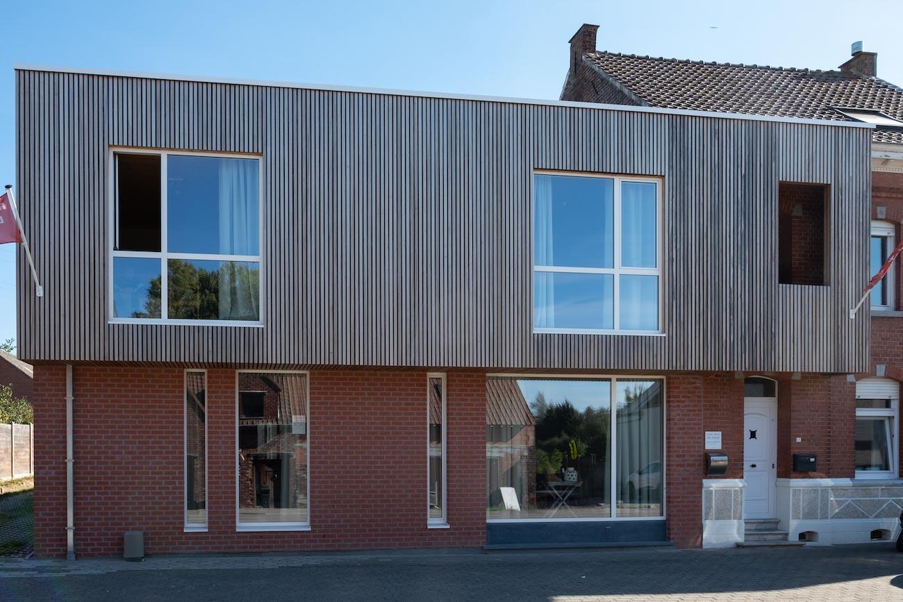 Klompenfabriek serviceflats Straatgevel CLT duurzaam gebouw