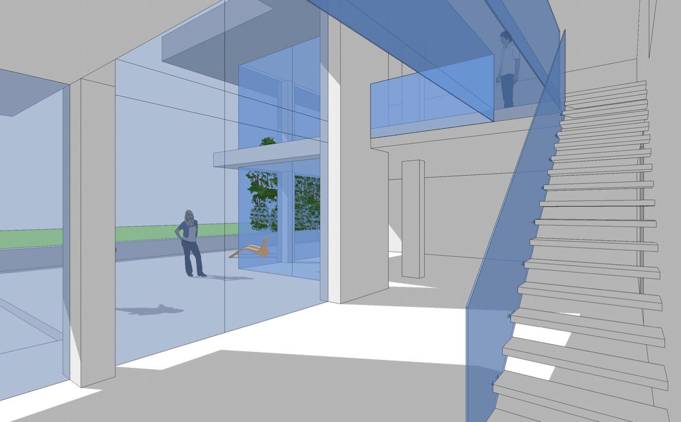 Woning Waasmunster 3D model aanzicht ontwerp interieur