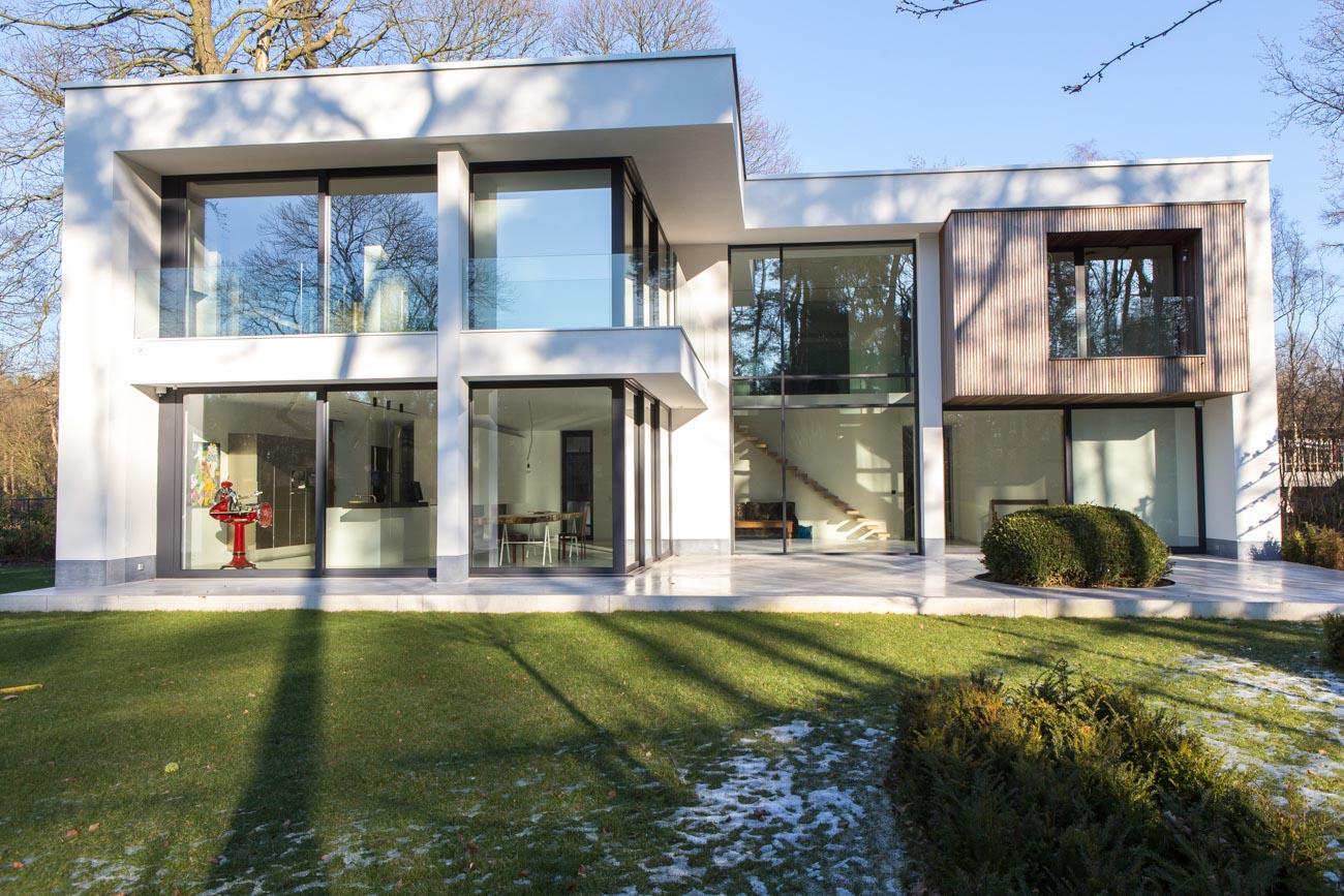 Woning Waasmunster voorgevel duurzaam CLT gebouw gerealiseerd