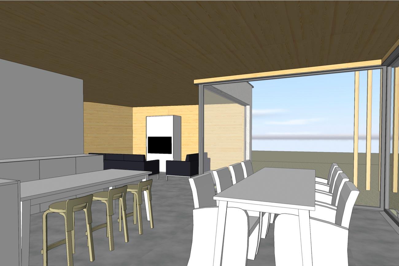 Woning in Dendermonde 3D render CLT interieur eethoek