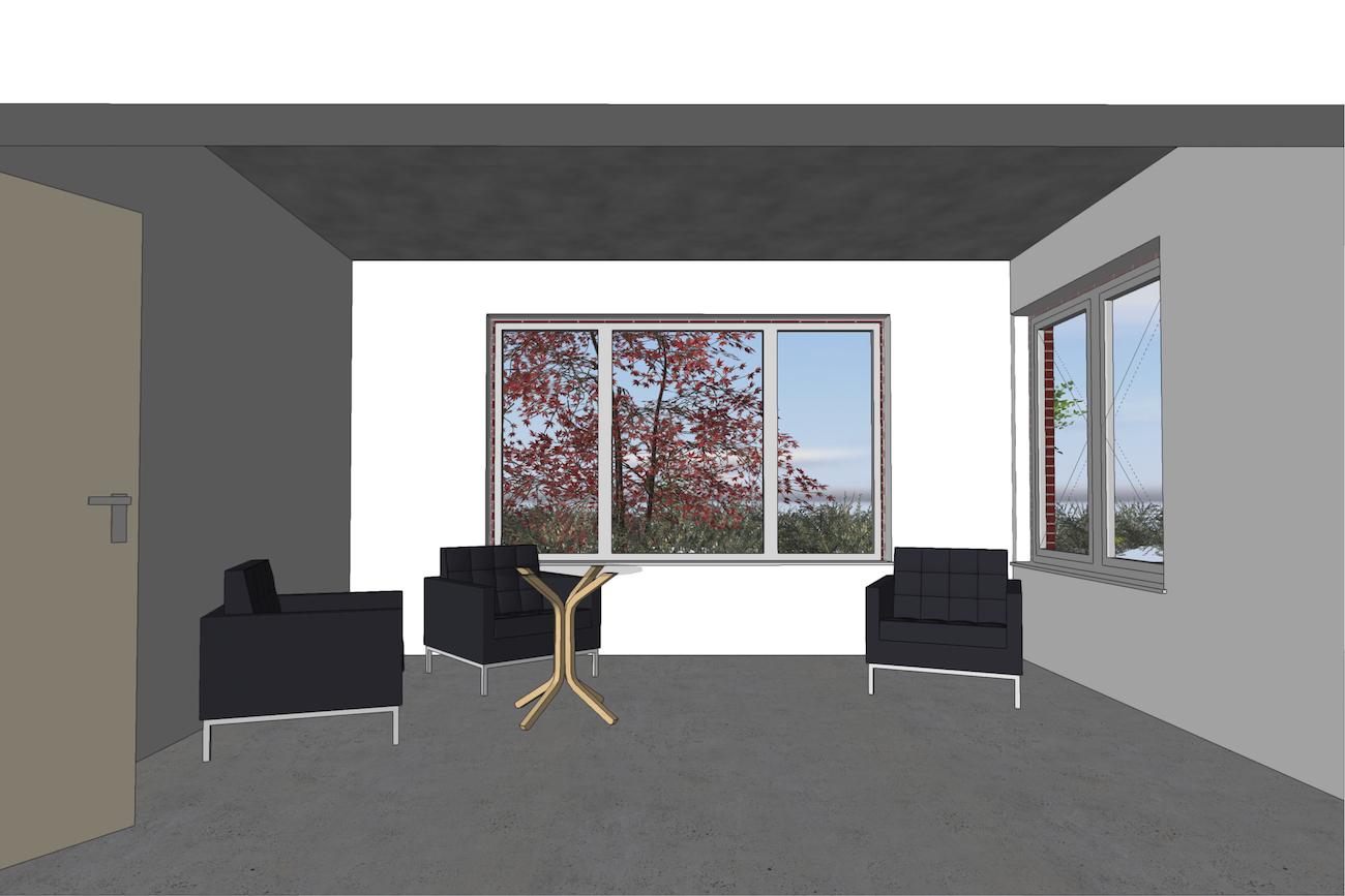Woning in Vurste 3D render renovatie van leefruimte