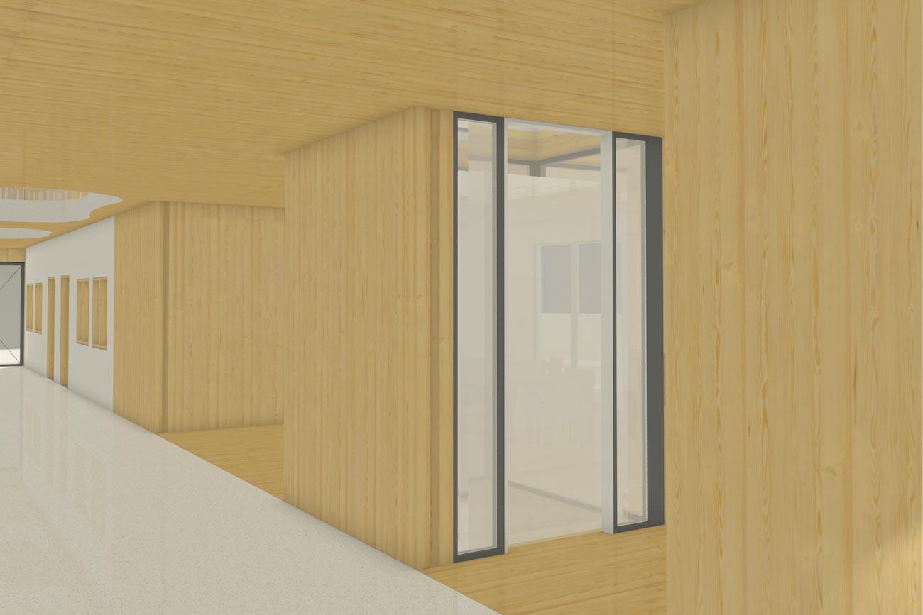 Porseleinhuis serviceflats in Wichelen 3D render