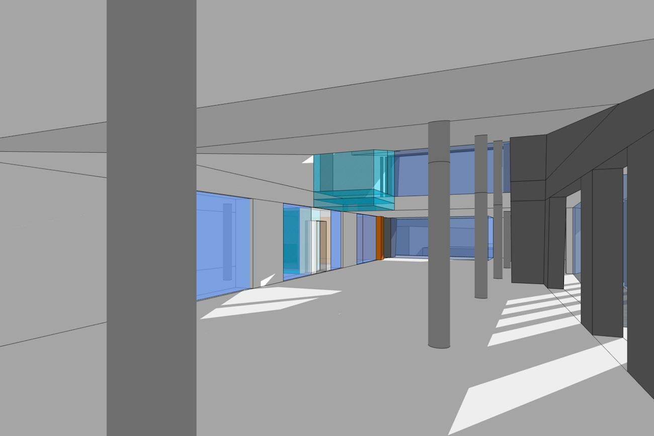 CLT Kantoor Xpower in Melle 3D render minimalistische interieur