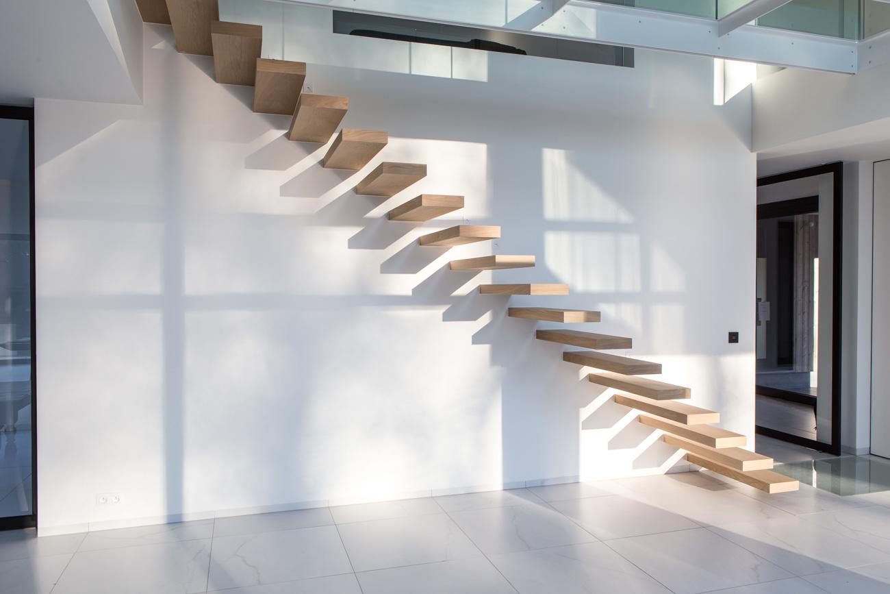 Houten trap Architectuur interieur
