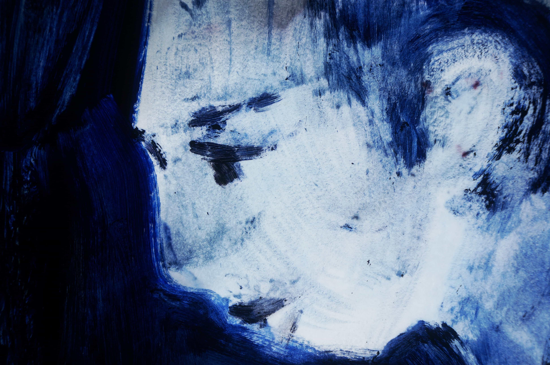 Visage bleu