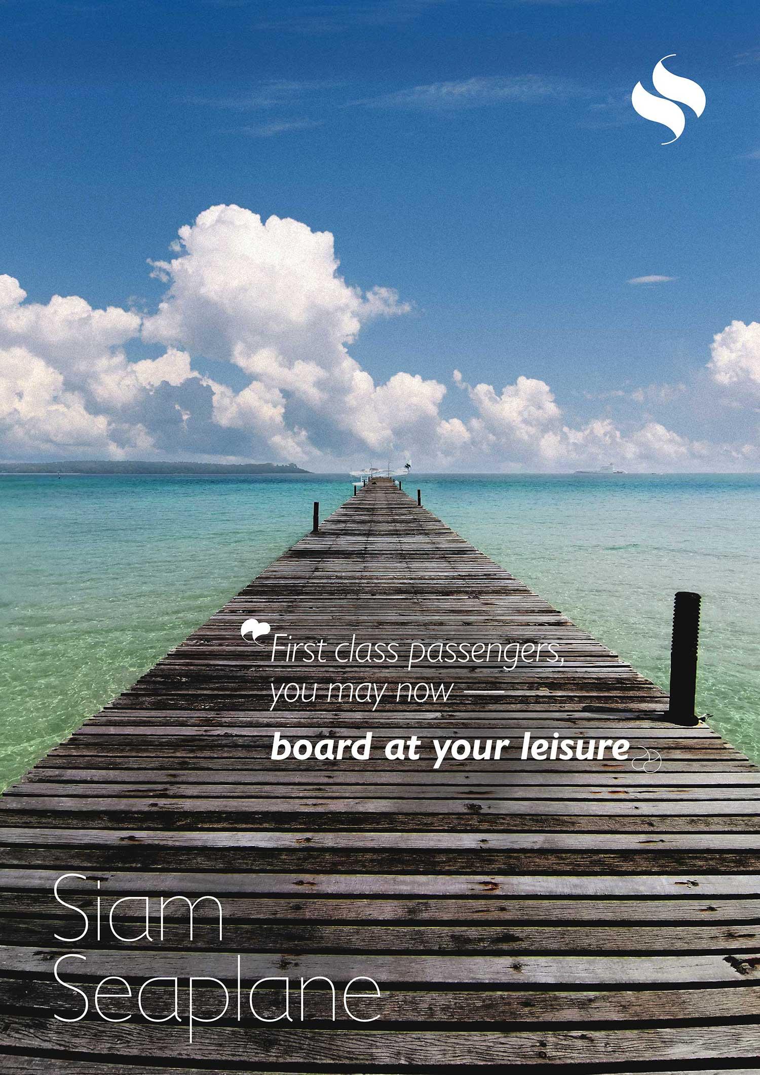 Siam Seaplane dock poster