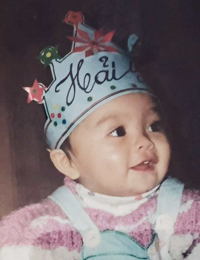 Shay as a baby