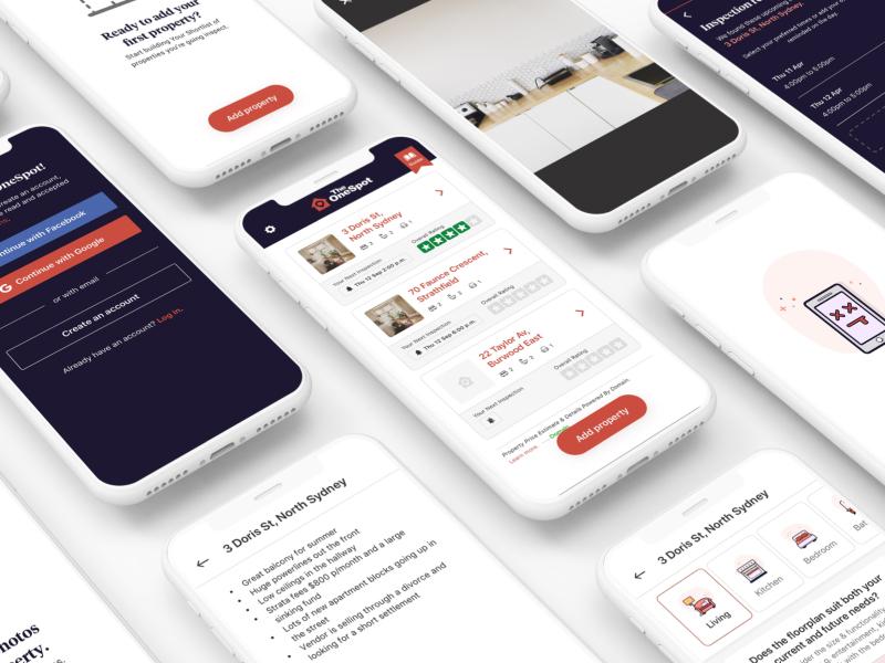 TheOneSpot MVP app design