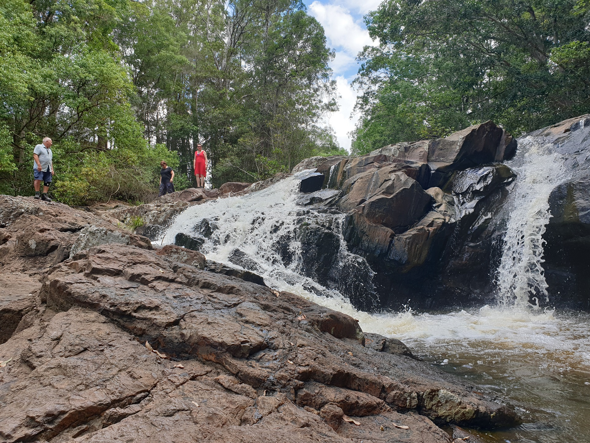 Local waterfall swimming hole