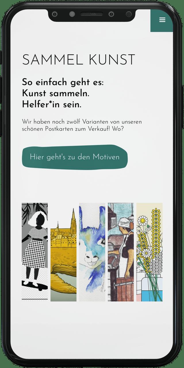 Screenshot vom Webdesign Projekt für Artención artencion.org