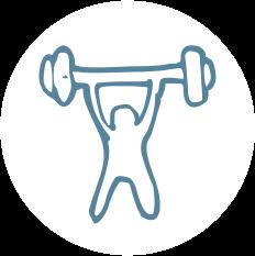 Symbol Gewichtheben