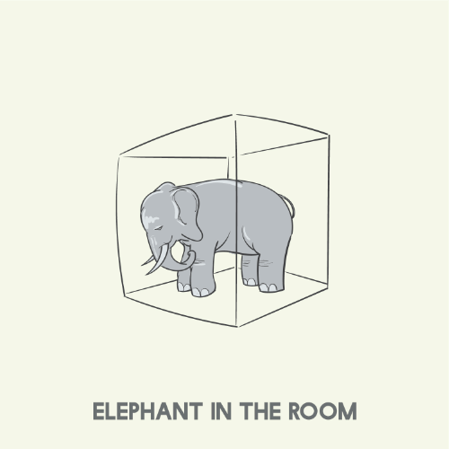 Idiomatic expression - An elephant in the room.