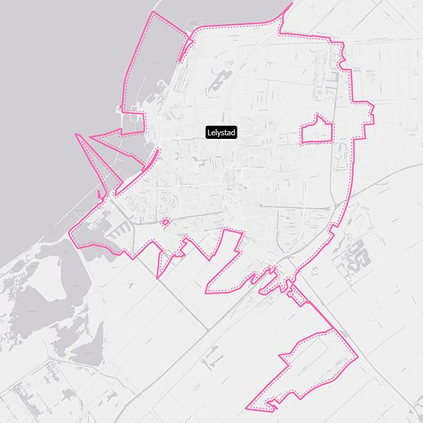 Kaart van de bezorgregio
