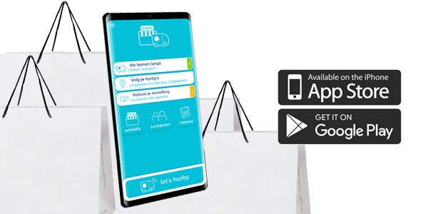 hurby bezorg app voor android en iphone