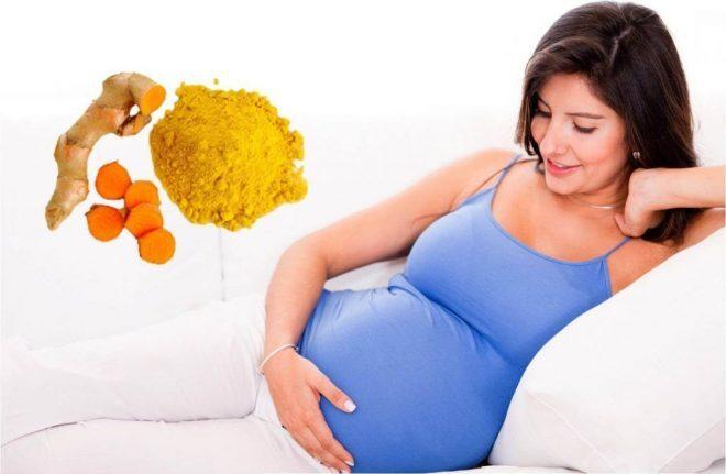 Phụ nữ mang thai không nên dùng tinh bột nghệ.