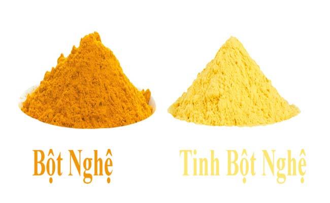 Người ta thường dùng bột nghệ làm giả tinh bột nghệ hoặc pha trộn bột gạo, sắn