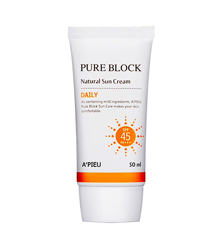 A'pieu Pure Block Natural Sun Cream