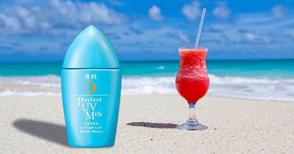 Kem chống nắng cho da dầu Senka Perfect UV Milk