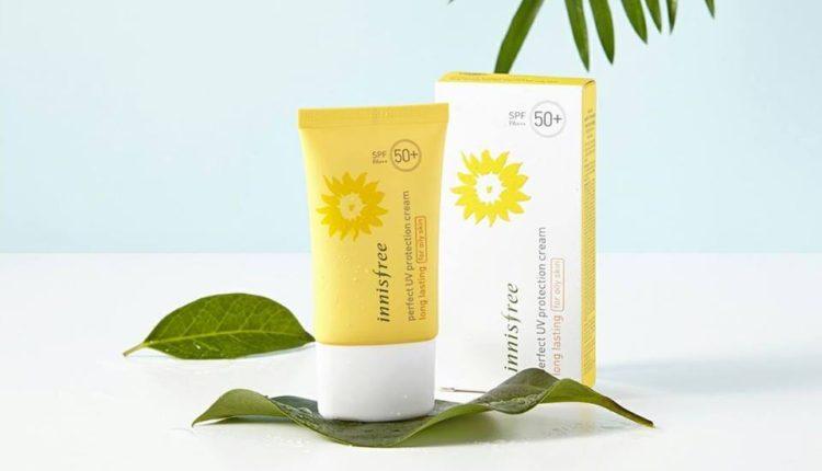 Kem chống nắng vật lý cho da dầu - Innisfree Perfect Uv Protection Cream Long Lasting For Oily Skin