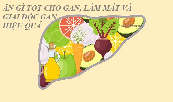 Ăn Gì Tốt Cho Gan, Làm Mát và Giải Độc Gan Hiệu Quả?