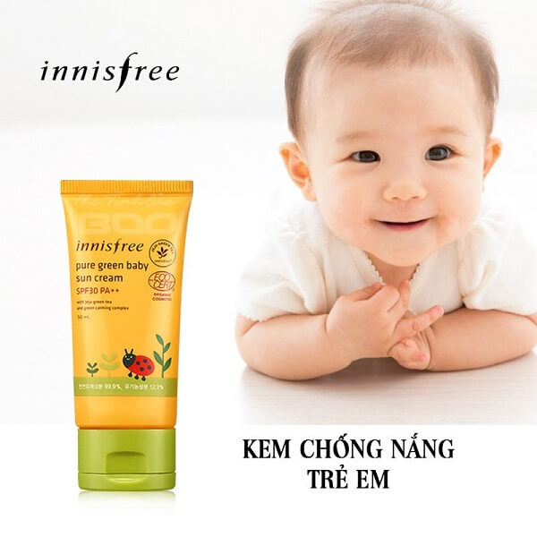 Kem chống nắng Innisfree Pure Green Baby Sun Cream SPF 30, PA+++
