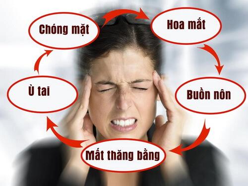 Triệu chứng thường gặp của bệnh rối loạn tiền đình