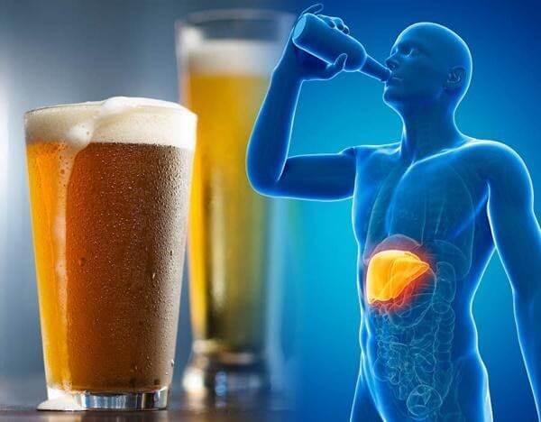 rượu bia gây hại cho gan