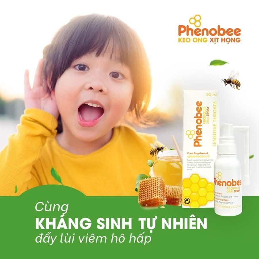 Keo xịt họng, giảm ho Phenobee