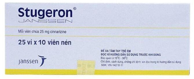 Thuốc tiền đình Stugeron