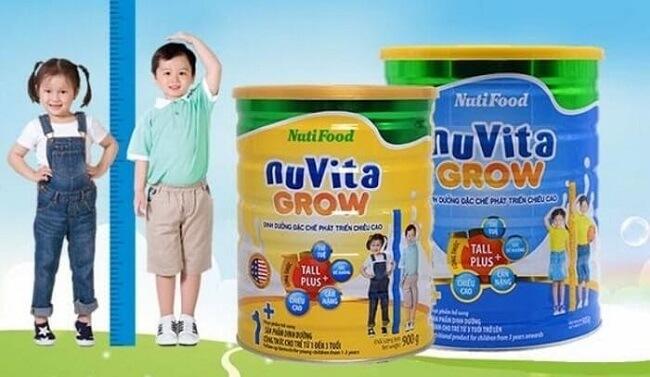 Sữa tăng chiều cao Nutifood: Nuvita Grow