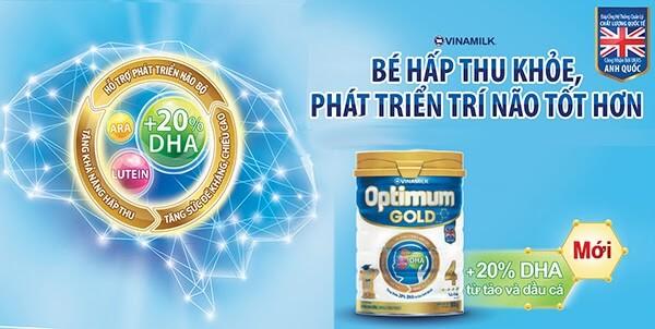 Sữa phát triển trí não và chiều cao cho bé Optimum Gold