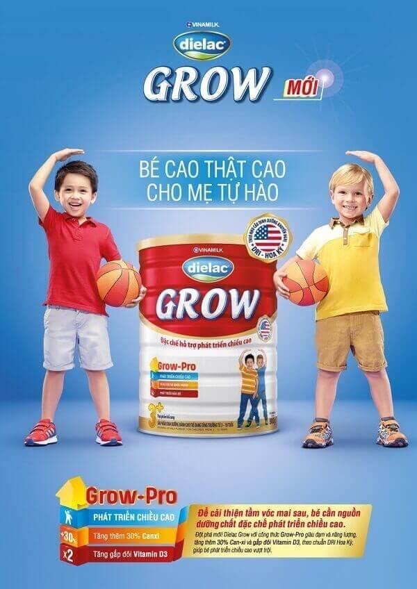 Sữa tăng chiều cao Vinamilk Dielac Grow Plus