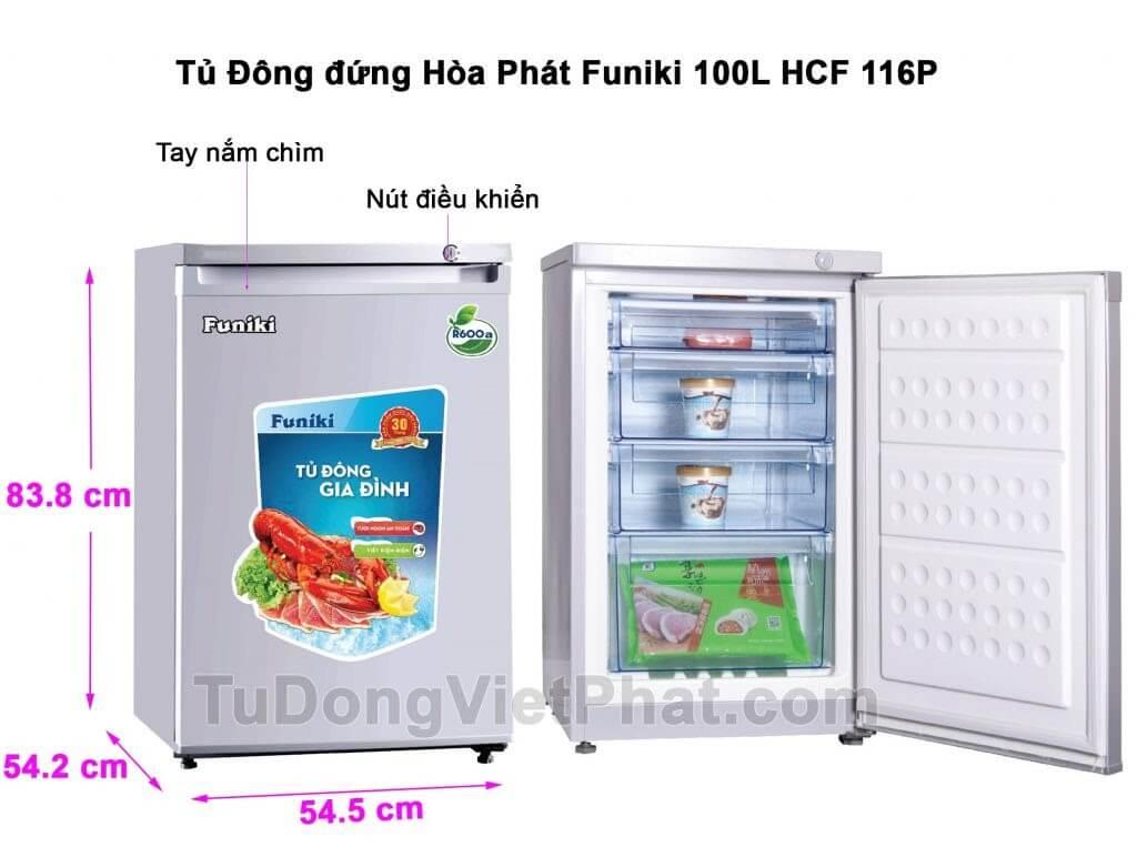 Tủ đông Funiki HCF -116P trữ sữa mẹ