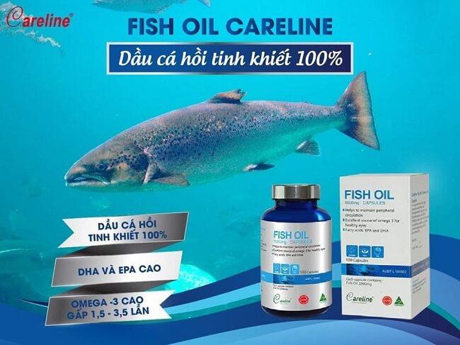 Dầu cá Careline Fish oil 1000mg