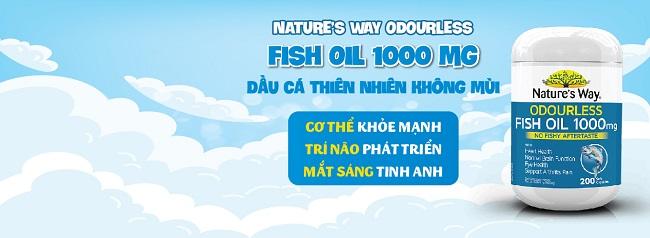 Dầu cá Nature's Way Odourless Fish Oil 1000mg