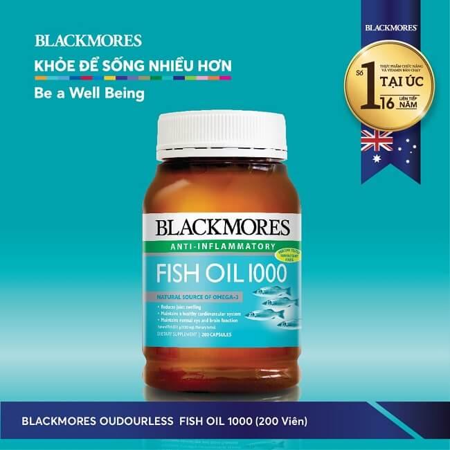 Dầu cá Blackmores Odourless Fish Oil 1000mg