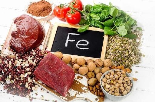 Thực phẩm chứa nhiều chất sắt