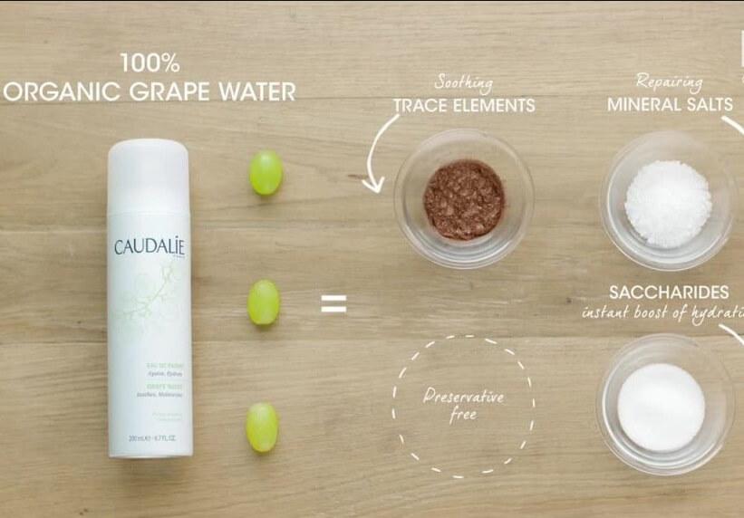 Xịt khoáng cho da khô Caudalie Grape Water