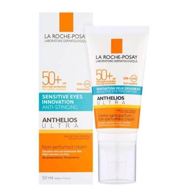 Kem chống nắng La Roche-Posay Anthelios Ultra Creme Innovation Yeux Sensibles Non-Perfumed Cream cho da nhạy cảm, da dễ kích ứng dưới ánh sáng mặt trời