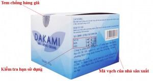 phân biệt kem dakami thật và giả