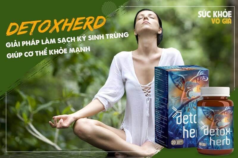 Viên uống diệt giun detoxherb hàng đầu Việt Nam