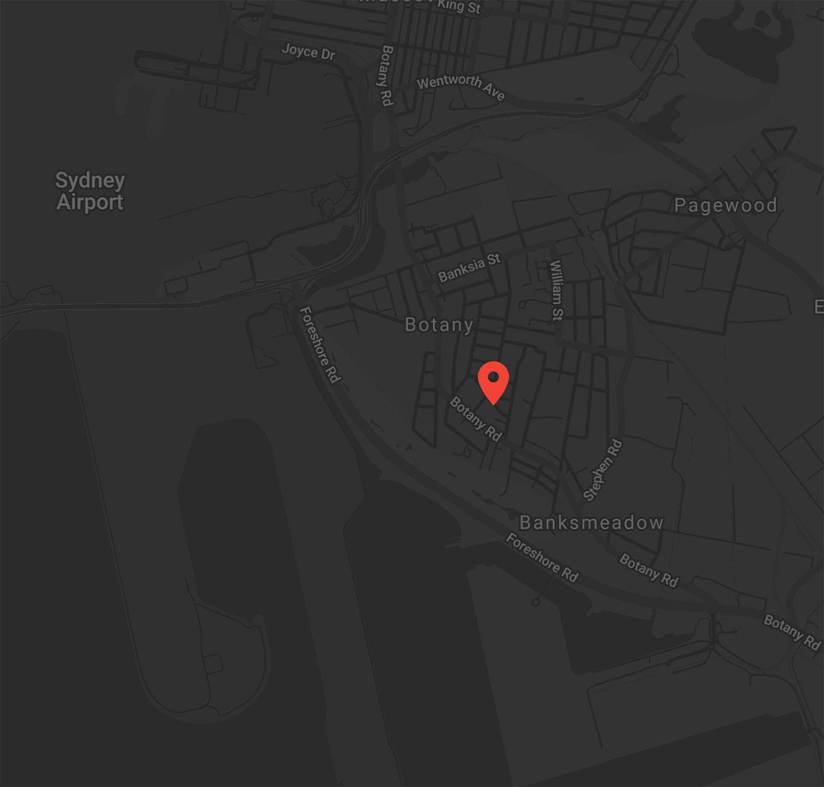 Vale Tudo Training Botany location map