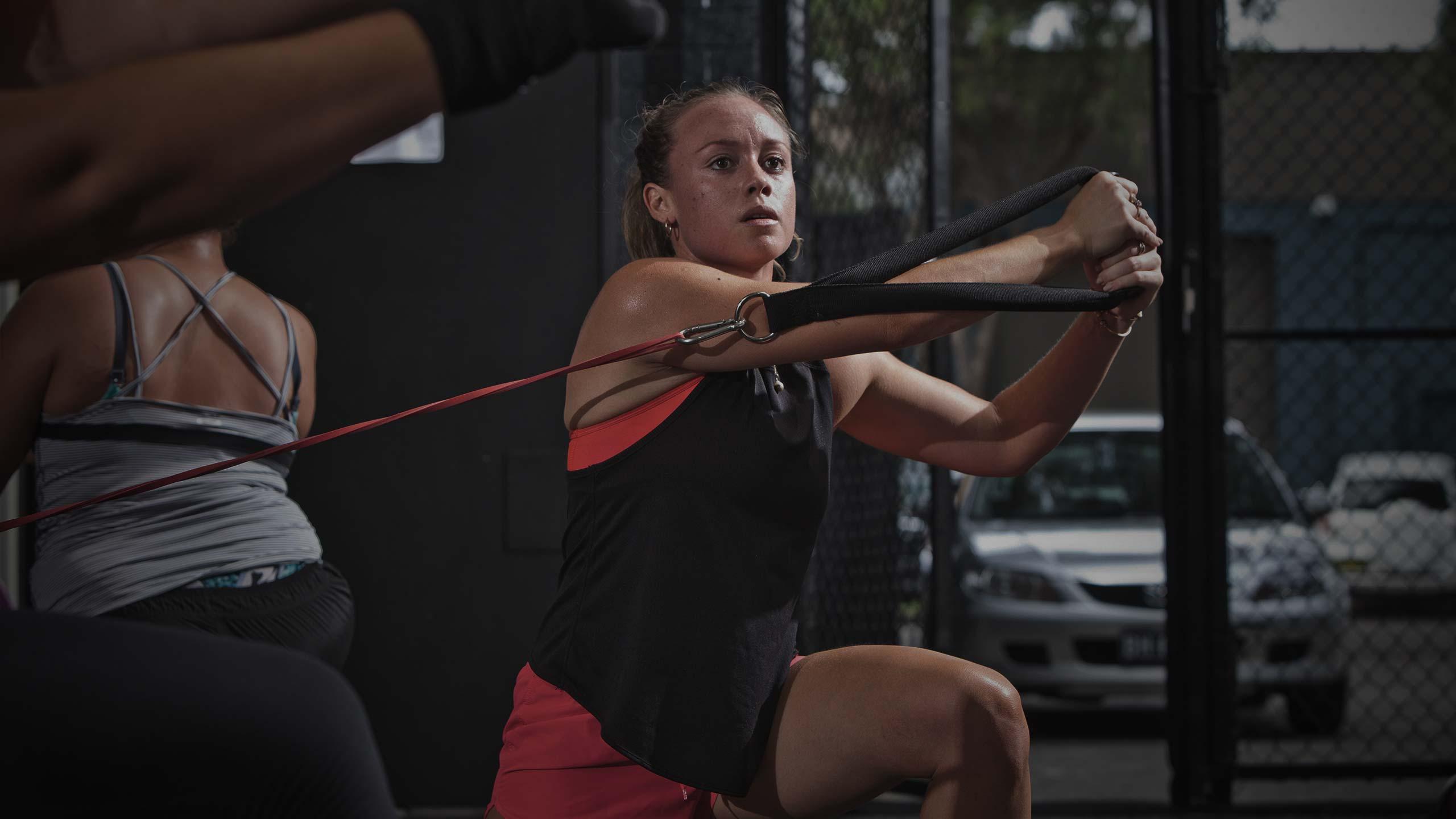 female athlete training in vale tudo super saturday session