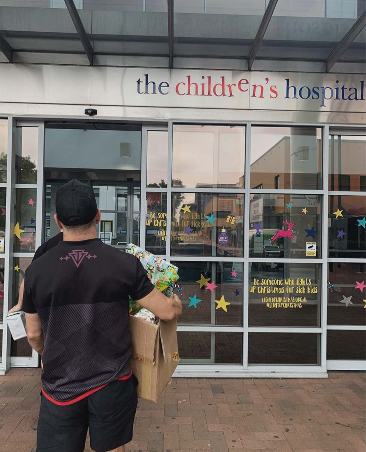 troy said bringing toys to westmead children's hospital